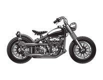 Plantilla de la vista lateral de la motocicleta del interruptor del vintage libre illustration