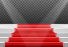 Plantilla de las escaleras del vector escaleras realistas de la etapa del ganador del vector 3D stock de ilustración