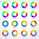 Plantilla de las flechas del círculo para su proyecto del negocio Fotografía de archivo libre de regalías