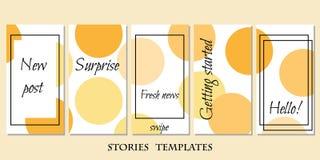 Plantilla de las historias ilustración del vector