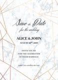 Plantilla de las invitaciones de la boda del diseño geométrico libre illustration