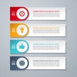 Plantilla de las opciones del número del diseño de Infographic stock de ilustración