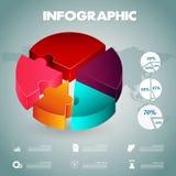 Plantilla de las opciones del número del infographics de la empanada Fotografía de archivo