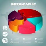 Plantilla de las opciones del número del infographics de la empanada ilustración del vector