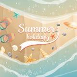 Plantilla de las vacaciones de verano fichero más del vector EPS10 Foto de archivo libre de regalías