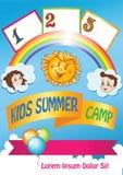 Plantilla de las vacaciones de verano del niño libre illustration