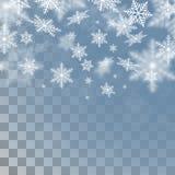 Plantilla de los copos de nieve del vector Imagenes de archivo