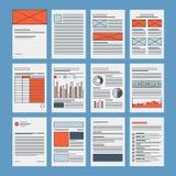 Plantilla de los documentos de negocio y de los papeles de compañía libre illustration
