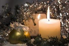 Plantilla de los saludos de la Navidad Fotografía de archivo libre de regalías