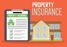 Plantilla de los servicios a empresas del seguro de la casa Ilustración del vector Puede ser utilizado para la disposición del fl stock de ilustración