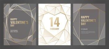 Plantilla de lujo de la invitación con el marco del oro Dimensión de una variable geométrica libre illustration