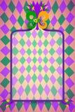 Plantilla de Mardi Gras Celebration del estilo Ilustración del vector Foto de archivo libre de regalías