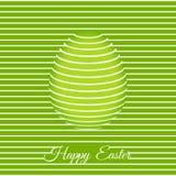 Plantilla de moda de la tarjeta de felicitación de 3D Pascua con el huevo Bandera de Pascua, cubierta, cartel, aviador o tarjeta  stock de ilustración
