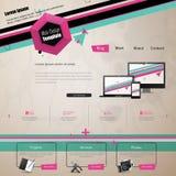 Plantilla de moda y creativa moderna del sitio web Ejemplo abstracto EPS 10 del diseño web Imagenes de archivo