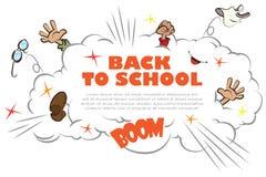 Plantilla de nuevo a escuela - ruction Imagen de archivo libre de regalías