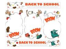 Plantilla de nuevo a escuela - ruction Foto de archivo