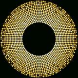 Plantilla de oro del diseño de las bolas de discoteca Foto de archivo libre de regalías
