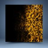 Plantilla de oro y negra del extracto del brillo Imagen de archivo
