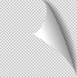 Plantilla de papel de la esquina del rizo Rejilla transparente Página vacía del fondo libre illustration