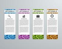 Plantilla de papel del infographics de las opciones abstractas del negocio 3D Foto de archivo libre de regalías