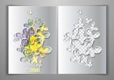 Plantilla de papel del vector Foto de archivo libre de regalías