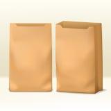 Plantilla de papel realista del paquete en frente y medias vistas laterales Imagen de archivo libre de regalías