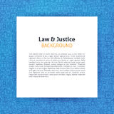 Plantilla de papel sobre la ley y la justicia Line Art Background Fotos de archivo libres de regalías