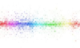 Plantilla de semitono del mosaico del arco iris abstracto ilustración del vector