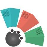 Plantilla de tres negocios Imagenes de archivo