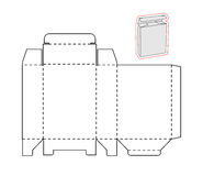 Plantilla de una caja simple Papel o cartulina cortado stock de ilustración