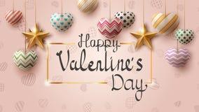 Plantilla de Valentine Day Da fruto el corazón en la placa ilustración del vector