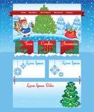 Plantilla del árbol de navidad en la línea tienda Imagenes de archivo