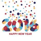 Plantilla 2016 del Año Nuevo Imagen de archivo libre de regalías