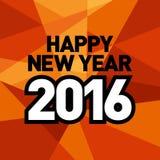 Plantilla 2016 del Año Nuevo Imágenes de archivo libres de regalías