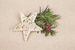 Plantilla del Año Nuevo/noel con una estrella Fotografía de archivo