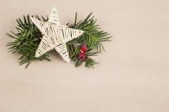 Plantilla del Año Nuevo/noel con una estrella Imágenes de archivo libres de regalías