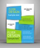 Plantilla del aviador, del folleto o de la portada de revista libre illustration
