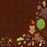 Plantilla del bosque de la primavera Imagen de archivo libre de regalías