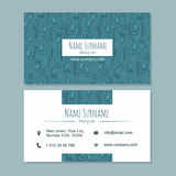 Plantilla del businesscard de la tarjeta de visita con el modelo dibujado mano linda ilustración del vector