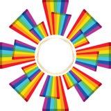 plantilla del círculo de la cubierta del regalo del triángulo del arco iris 3d libre illustration