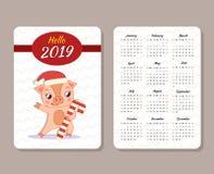 Plantilla del calendario libre illustration