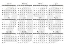 Plantilla 2019 del calendario stock de ilustración