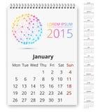 Plantilla del calendario Fotografía de archivo libre de regalías