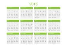 Plantilla 2016 del calendario Imagen de archivo libre de regalías