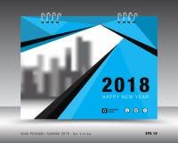 Plantilla 2018 del calendario de la cubierta Diseño del aviador del folleto del negocio libre illustration