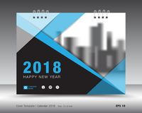 Plantilla 2018 del calendario de la cubierta Cubierta de libro Diseño del aviador del folleto del negocio ilustración del vector