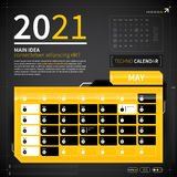 Plantilla del calendario en estilo del techno Fotografía de archivo