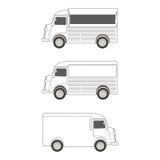 Plantilla del camión de la comida Imágenes de archivo libres de regalías