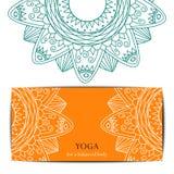 Plantilla del carte cadeaux del estudio de la yoga Foto de archivo libre de regalías