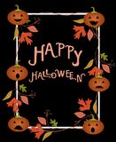 Plantilla del cartel de Halloween Ilustración del vector imágenes de archivo libres de regalías